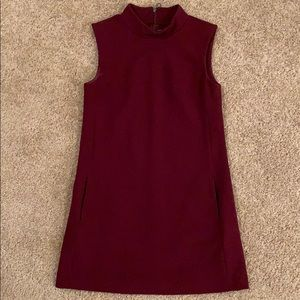 RACHEL Rachel Roy Burgundy Mod Mini Dress